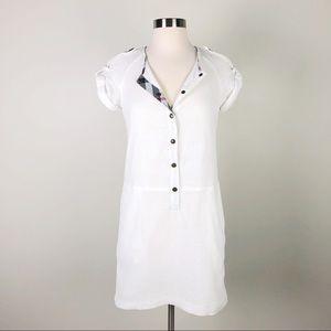 Burberry Brit | White Eyelet Lace Shift Dress Sz 6